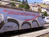 Locomotiva Ge 650 in livrea Unesco